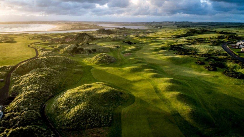 Campo de golf de Castlerock 'Mussenden' en Irlanda