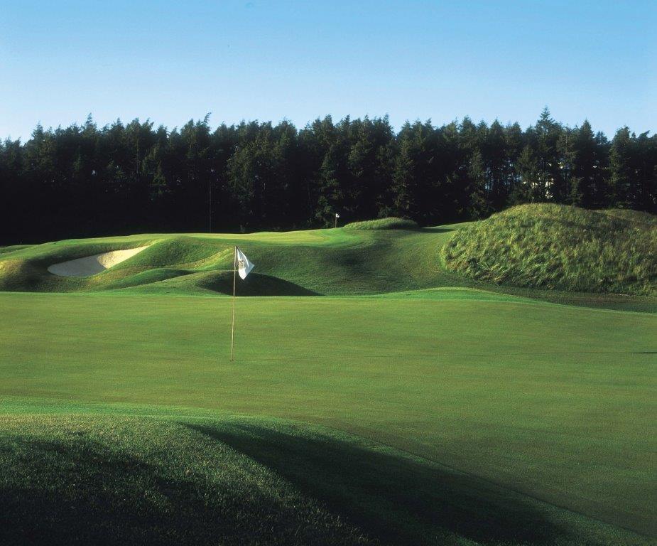 Green en el campo de golf de K Club (Smurfit) en Irlanda