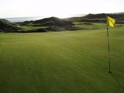 Green en el campo de golf de The European Club en Irlanda
