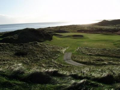 Vistas en el campo de golf de The European Club en Irlanda