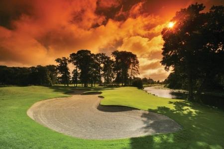 Bunker en el campo de golf de K Club (Palmer Ryder Cup) en Irlanda